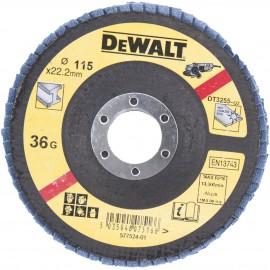 DEWALT DISCO LAMELADO 115mm GRAO 36 CONC DT3255-QZ